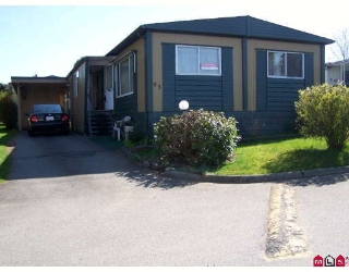 "Main Photo: 93 1884 MCCALLUM Road in ABBOTSFORD: Central Abbotsford Manufactured Home for sale in ""GARDEN VILLAGE"" (Abbotsford)  : MLS® # F2908962"