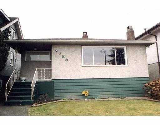 Main Photo: 2728 E 23RD Avenue in Vancouver: Renfrew Heights House for sale (Vancouver East)  : MLS(r) # V787510