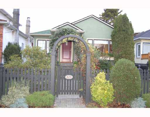 "Main Photo: 829 W 17TH Avenue in Vancouver: Cambie House for sale in ""DOUGLAS PARK"" (Vancouver West)  : MLS(r) # V748707"