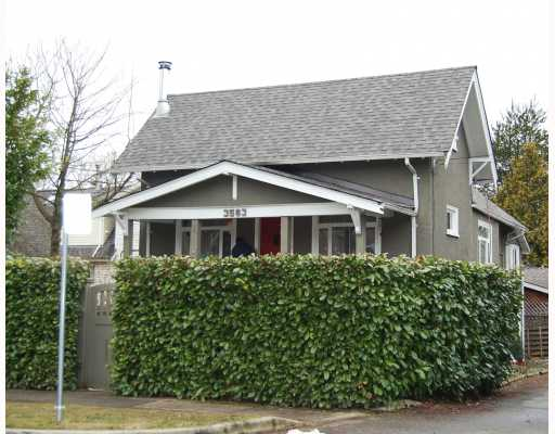 "Main Photo: 3563 HEATHER Street in Vancouver: Cambie House for sale in ""DOUGLAS PARK"" (Vancouver West)  : MLS® # V753174"