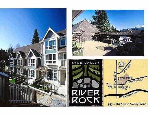 "Main Photo: 4 1005 LYNN VALLEY RD in North Vancouver: Lynn Valley Townhouse for sale in ""RIVER ROCK"" : MLS® # V561039"