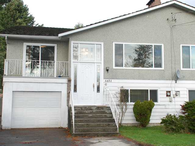 Main Photo: 6651 WILLIAMS Road in Richmond: Woodwards House 1/2 Duplex for sale : MLS® # V859570