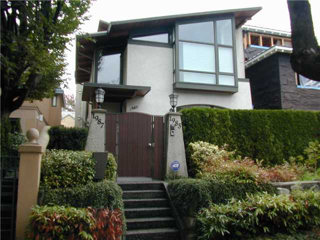Main Photo: 1985 MCNICOLL Avenue in Vancouver: Kitsilano House 1/2 Duplex for sale (Vancouver West)  : MLS® # V854385