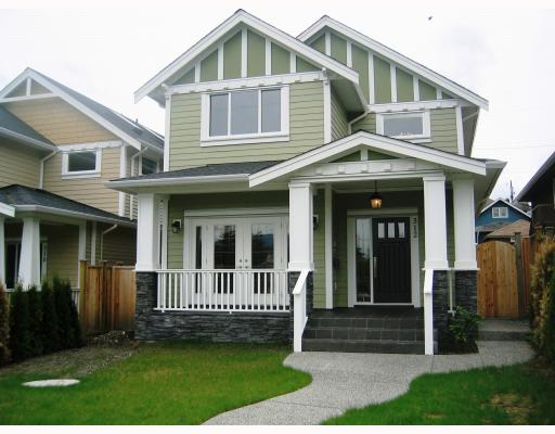 Main Photo: 312 HOLMES Street in New_Westminster: The Heights NW House for sale (New Westminster)  : MLS® # V766704