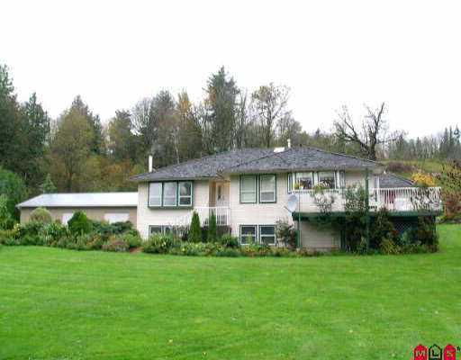 Main Photo: 3081 ELDRIDGE RD in Abbotsford: Sumas Mountain House for sale : MLS® # F2612754