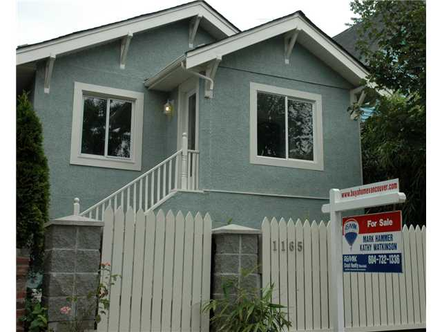 Main Photo: 1165 KEEFER Street in Vancouver: Mount Pleasant VE House for sale (Vancouver East)  : MLS(r) # V846899
