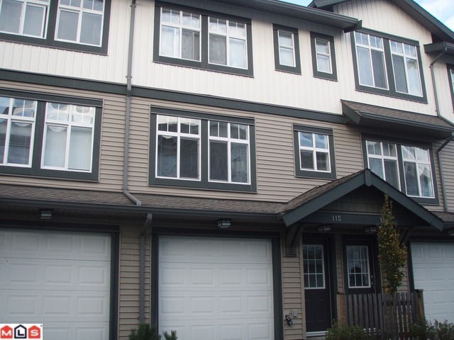 "Main Photo: 115 16177 83RD Avenue in Surrey: Fleetwood Tynehead Townhouse for sale in ""VERANDA"" : MLS®# F1026953"