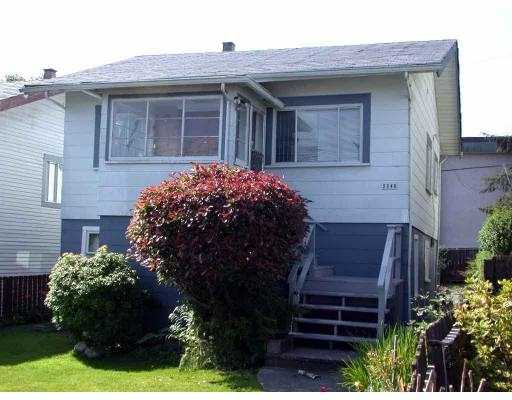Main Photo: 2248 E 25TH AV in Vancouver: Victoria VE House for sale (Vancouver East)  : MLS® # V548556