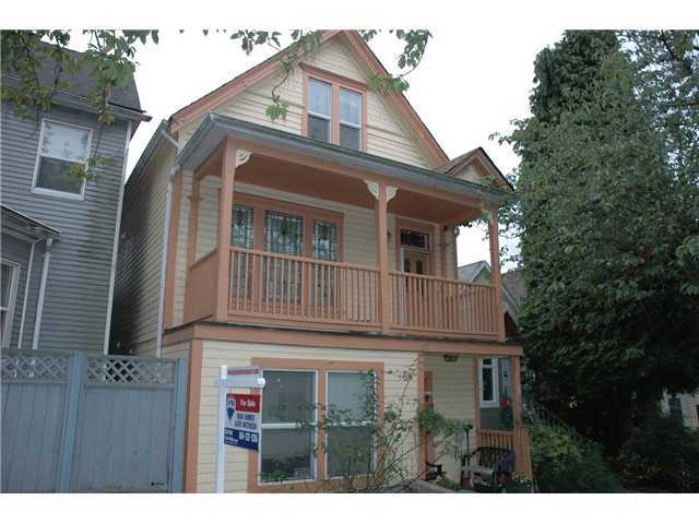 Main Photo: 1030 E PENDER Street in Vancouver: Mount Pleasant VE House for sale (Vancouver East)  : MLS® # V856146