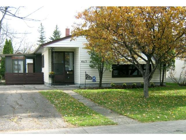 Main Photo: 463 OLIVE Street in WINNIPEG: St James Residential for sale (West Winnipeg)  : MLS® # 1021435