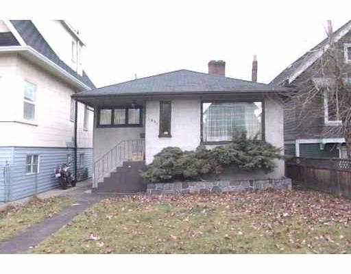 Main Photo: 1341 E 12TH AV in Vancouver: Grandview VE House for sale (Vancouver East)  : MLS® # V568377
