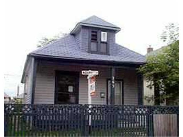 Main Photo: 263 UNION Avenue West in WINNIPEG: East Kildonan Residential for sale (North East Winnipeg)  : MLS® # 2013256