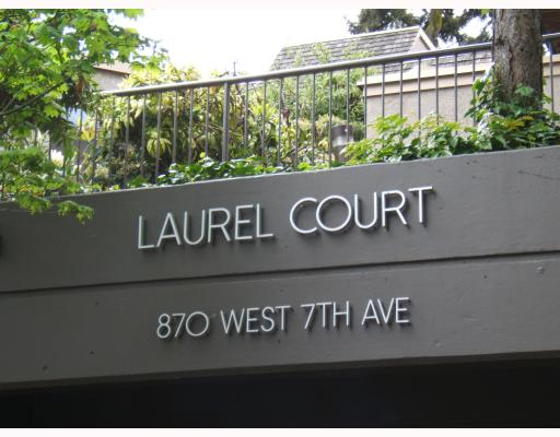 "Main Photo: 3 870 W 7TH Avenue in Vancouver: Fairview VW Condo for sale in ""LAUREL COURT"" (Vancouver West)  : MLS® # V766845"