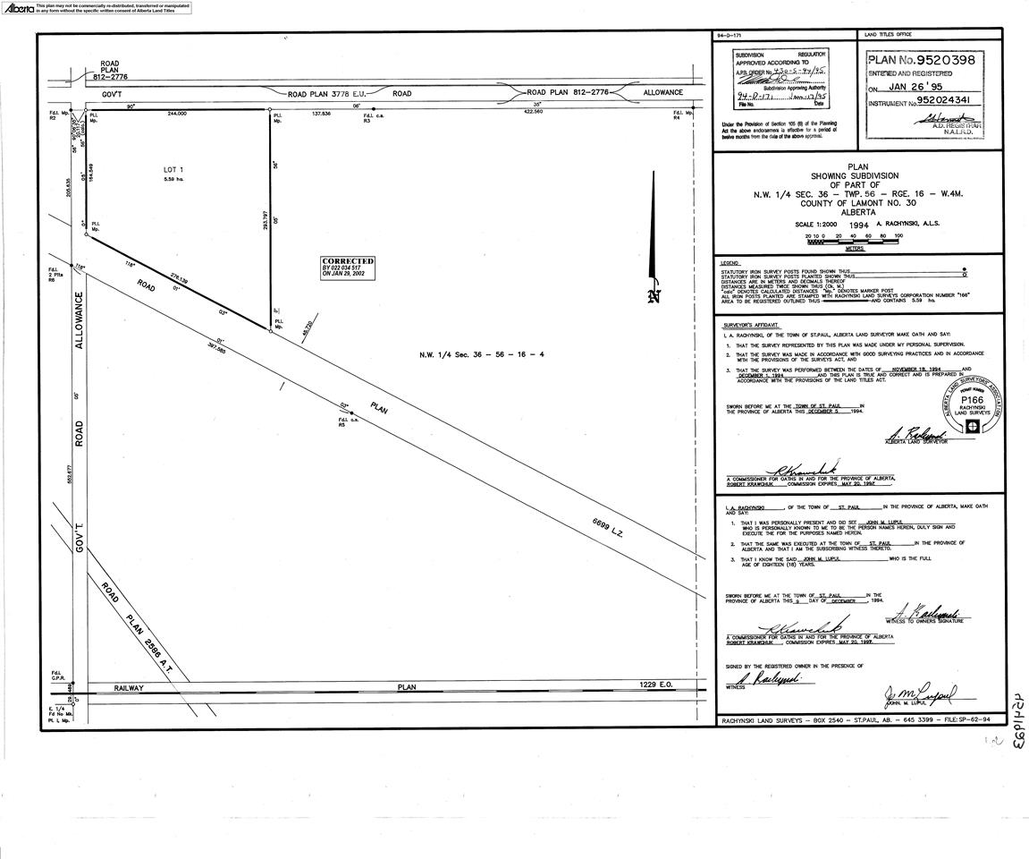 Main Photo: NW-36 56-16-4th--45 Highway: Rural Lamont County Rural Land/Vacant Lot for sale : MLS® # E4065615