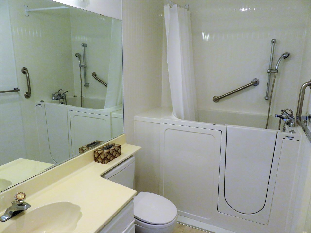 WOW!..Here is the 2nd Bathroom with the NEW WALK-IN AIR TUB/SHOWER/SEAT! You really must see this beauty! :)