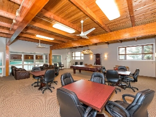 Amenities include a large social room and billiards room.