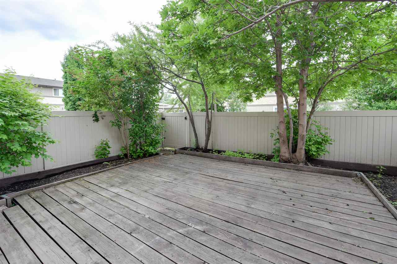 Large deck area, maintenance free fencing???zero mowing required???just sit outside and enjoy the peace and quiet.
