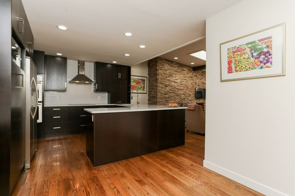 Open area to the right of the kitchen for your breakfast nook.