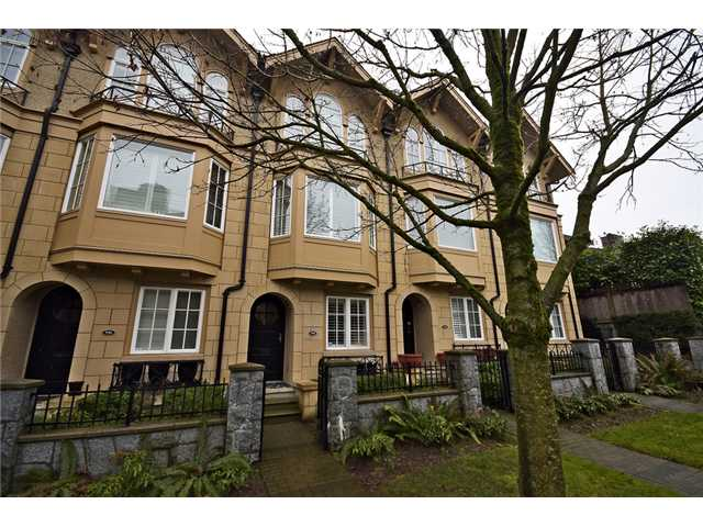 Main Photo: 928 W 13TH Avenue in Vancouver: Fairview VW Townhouse for sale (Vancouver West)  : MLS® # V1051000