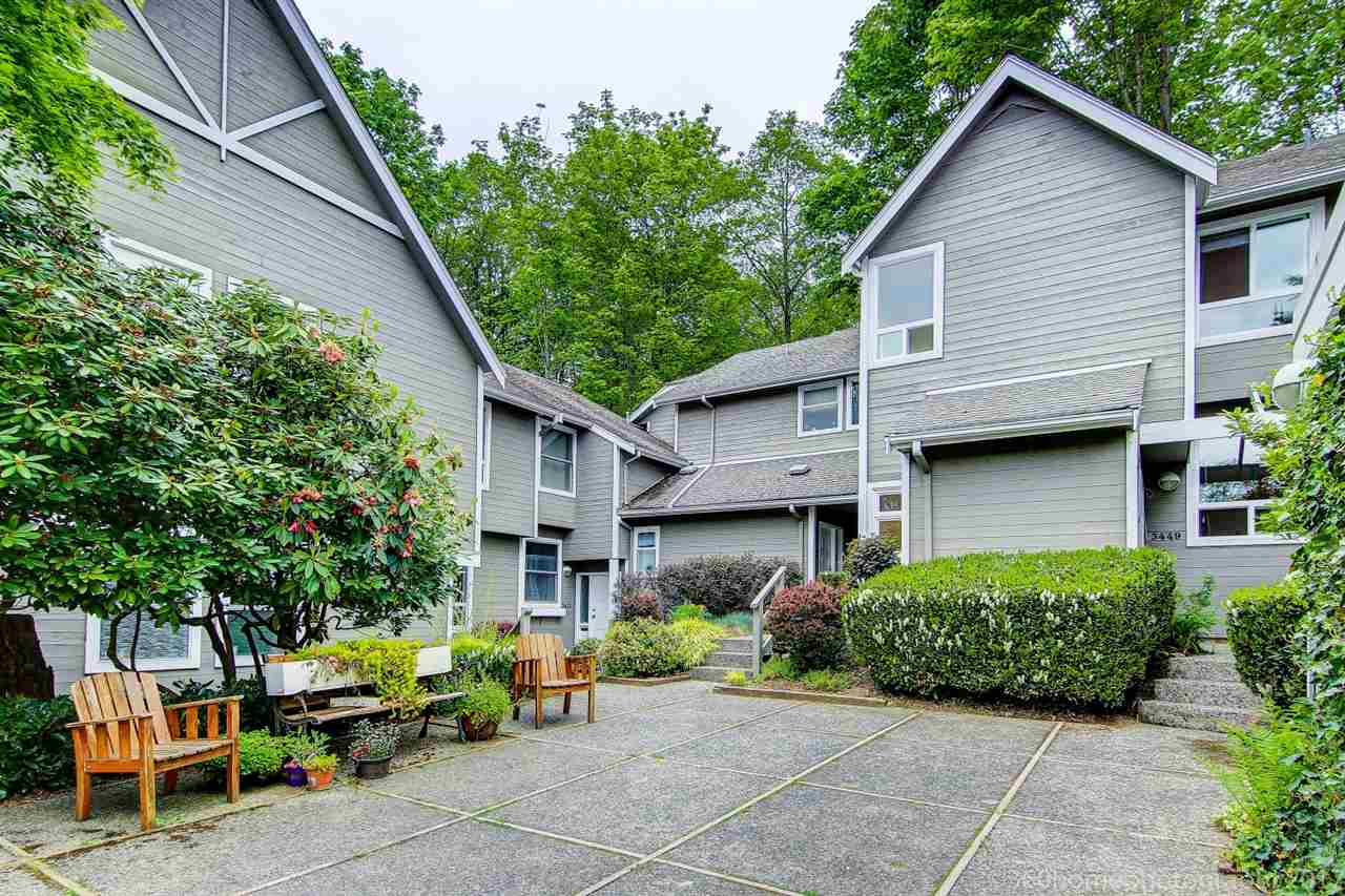 "Main Photo: 3449 WEYMOOR Place in Vancouver: Champlain Heights Townhouse for sale in ""MOORPARK"" (Vancouver East)  : MLS(r) # R2168309"
