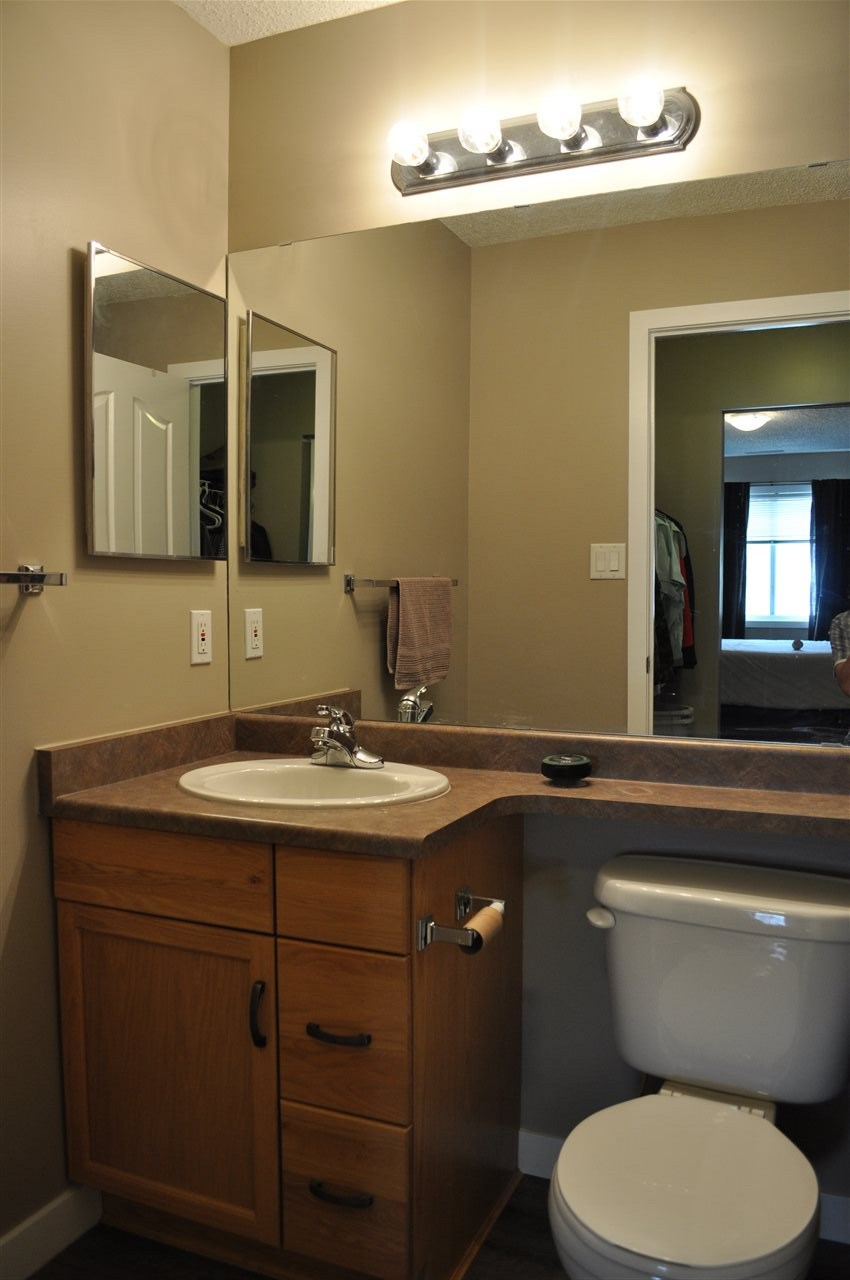 The master ensuite is well appointed, and accessed by walking through the walk through double closet