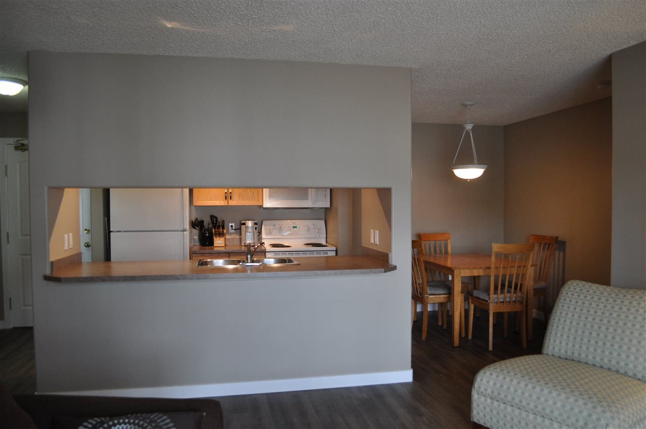 The dining area is large enough for a family sized table, and the living space really does have elbow room