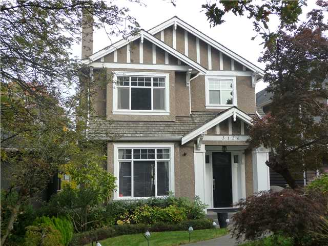 "Main Photo: 3126 WATERLOO ST in Vancouver: Kitsilano House for sale in ""Kitsilano"" (Vancouver West)  : MLS®# V1037642"