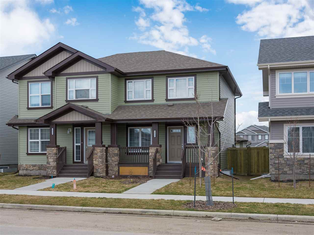 Main Photo: 3833 170A Avenue in Edmonton: Zone 03 House Half Duplex for sale : MLS(r) # E4062213