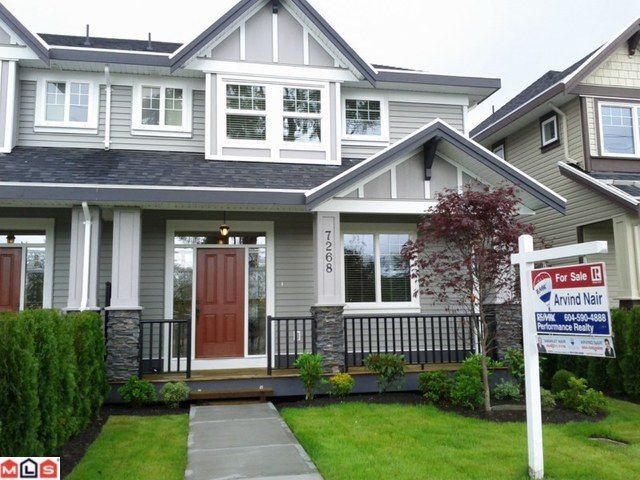 Main Photo: 7268 192ND Street in Surrey: Clayton House 1/2 Duplex for sale (Cloverdale)  : MLS® # F1115176