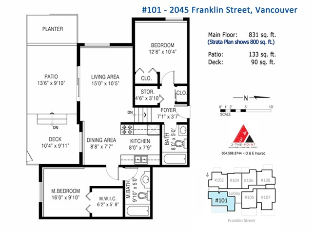 "Photo 17: 101 2045 FRANKLIN Street in Vancouver: Hastings Condo for sale in ""HARBOUR MOUNT"" (Vancouver East)  : MLS(r) # V1049075"