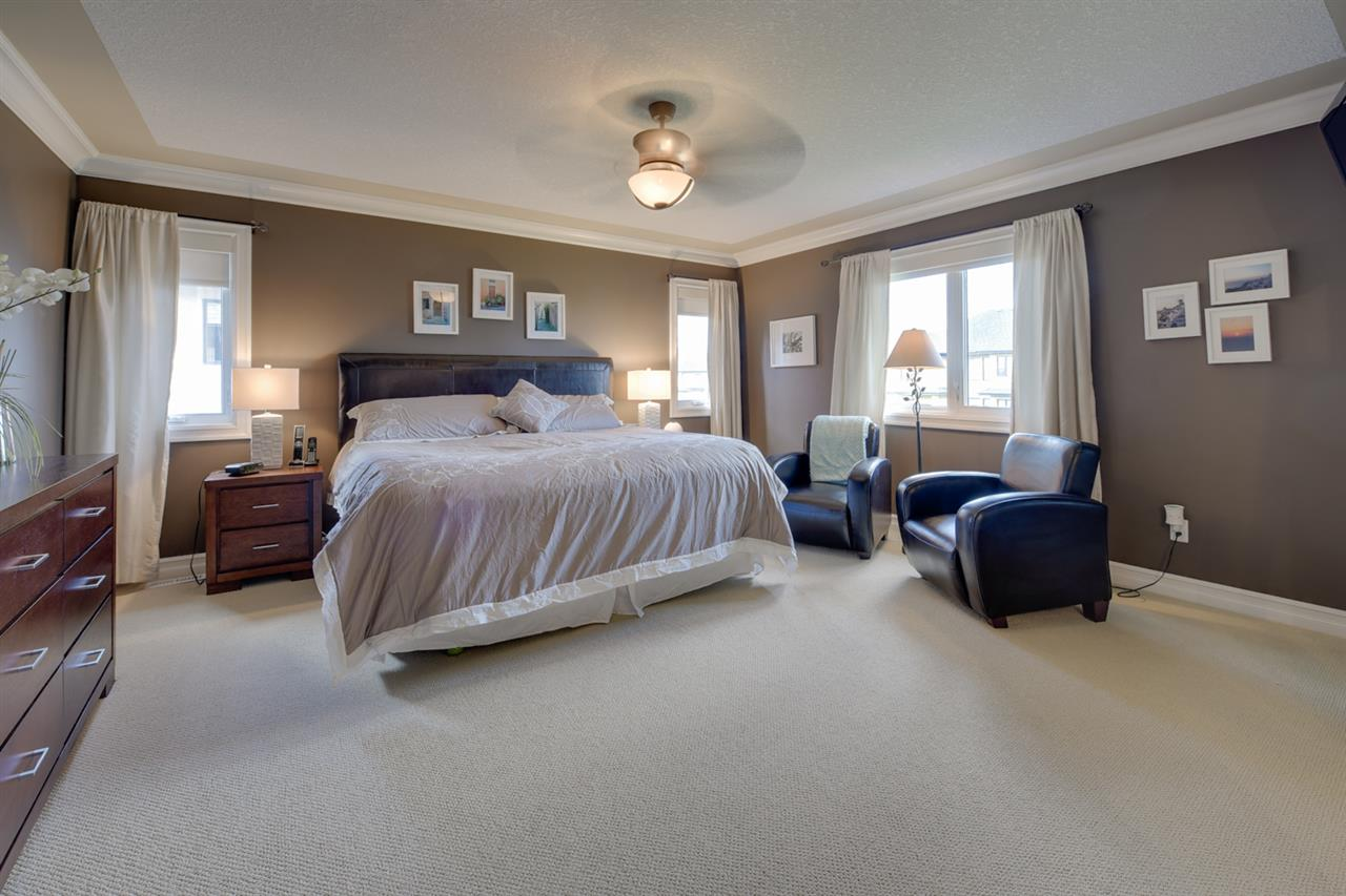The master bedroom is the perfect retreat complete with a double sided gas fireplace, walk in closet, 5 piece ensuite including an air tub and a huge walk in shower.
