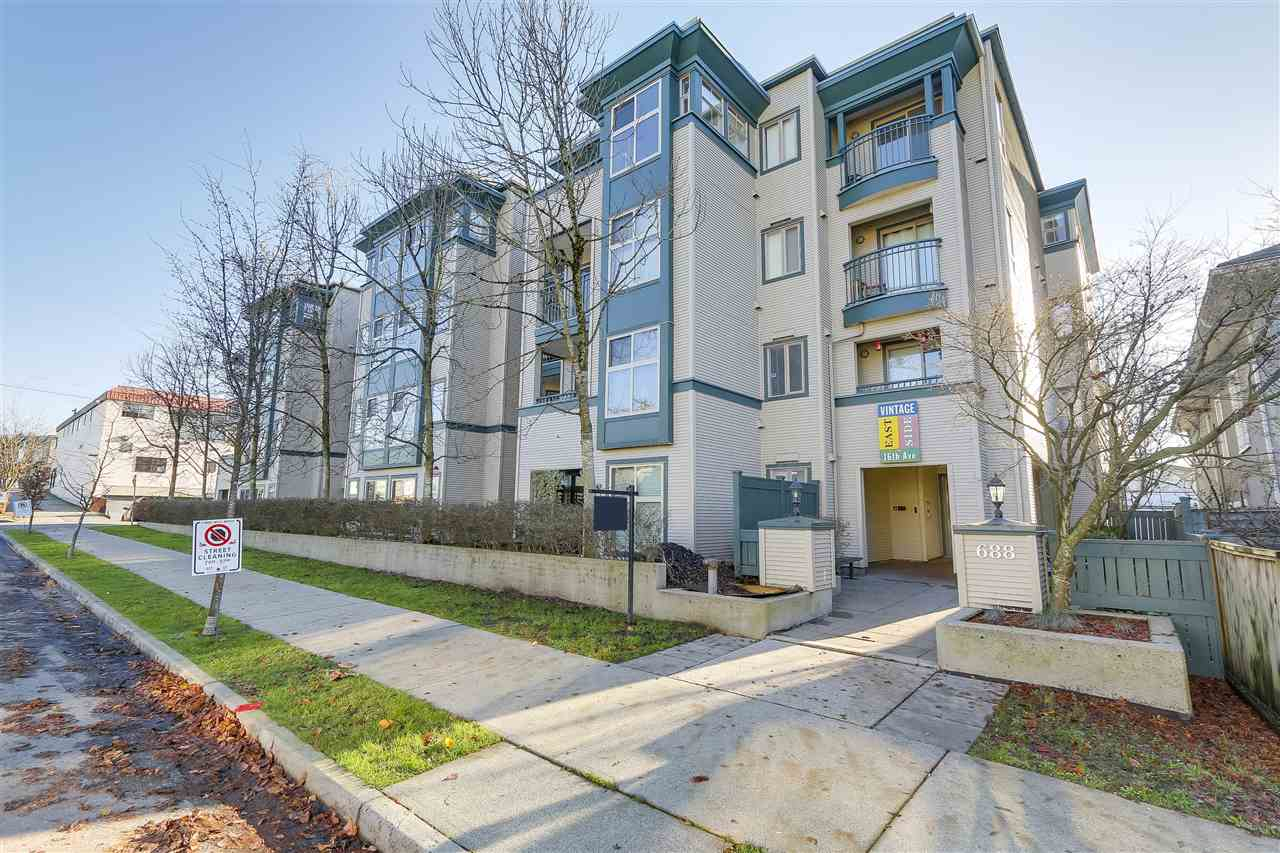 "Main Photo: 312 688 E 16TH Avenue in Vancouver: Fraser VE Condo for sale in ""VINTAGE EASTSIDE"" (Vancouver East)  : MLS®# R2226953"