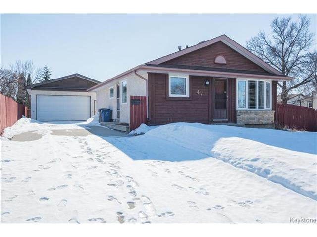 Main Photo: 47 Capricorn Place in Winnipeg: Sun Valley Park Residential for sale (3H)  : MLS(r) # 1704505
