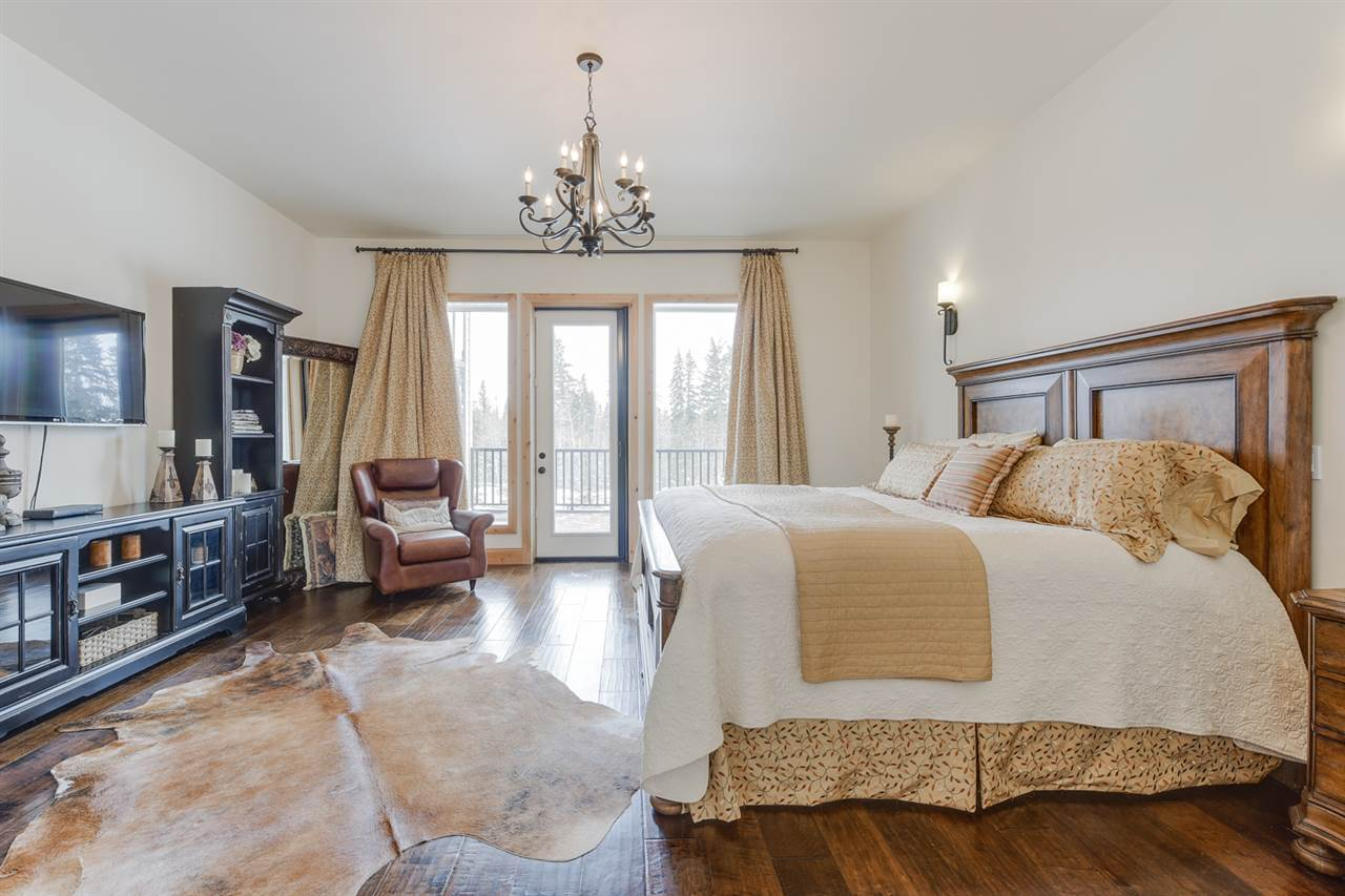 Gorgeous master suite with a private patio, steam shower, a separate tub & walk in closet.