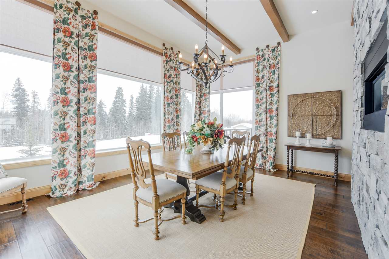 Fabulous formal dining room overlooking the yard.