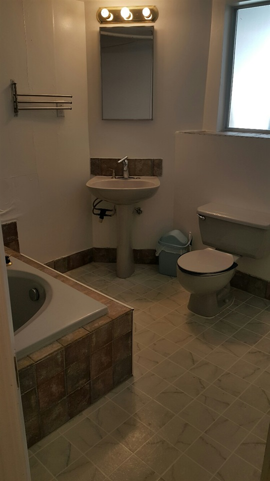 washroom in basement