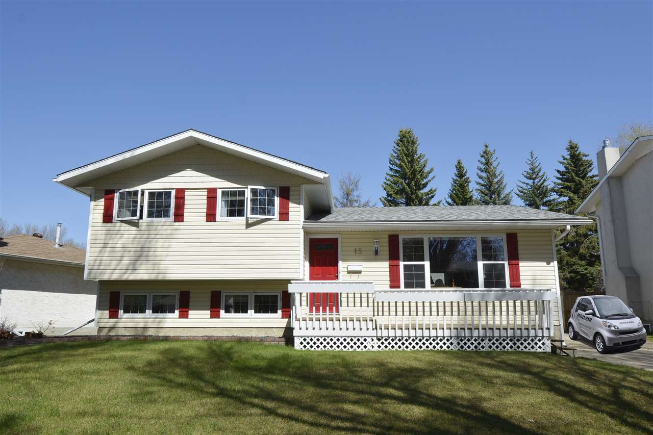 Main Photo: 15 FLINT Crescent: St. Albert House for sale : MLS(r) # E4060010