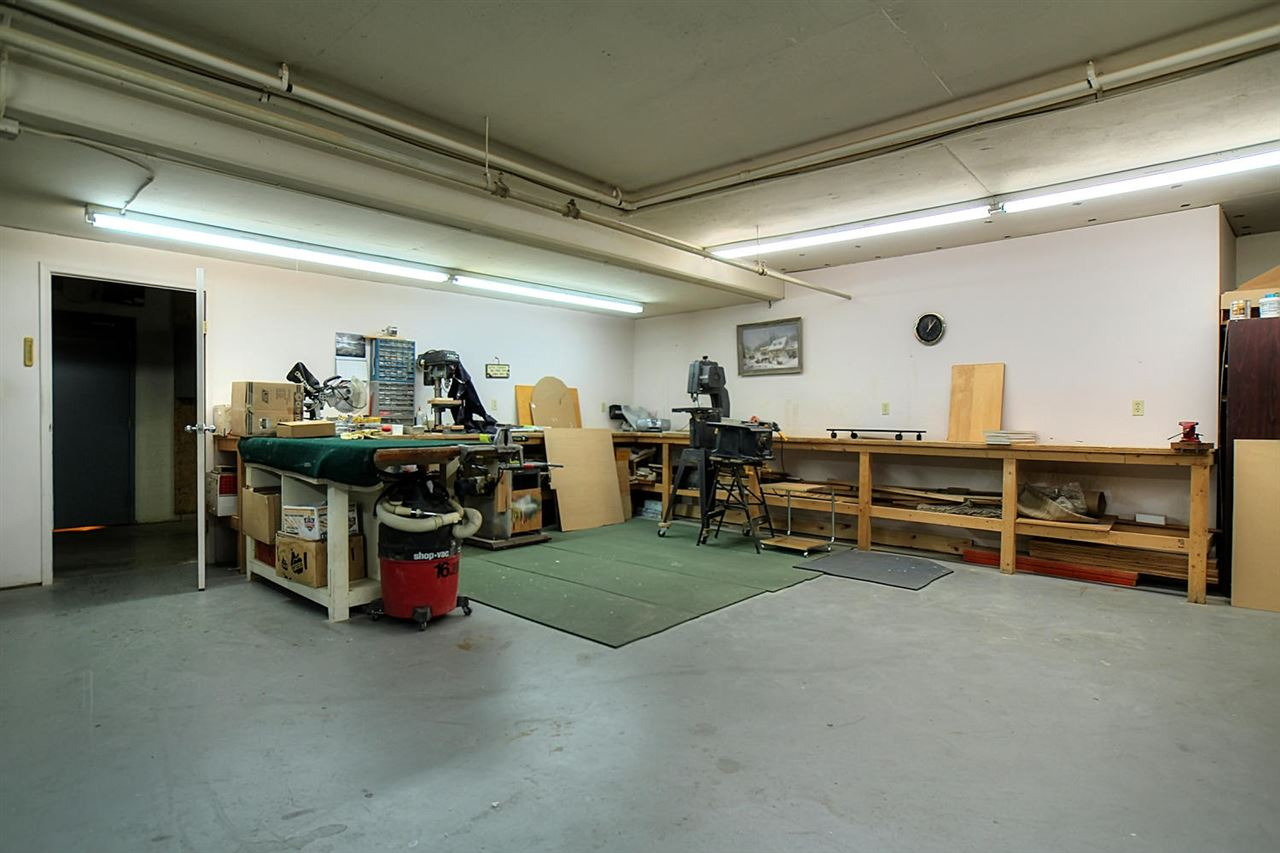 This is the wood working area located in the underground parking facility.