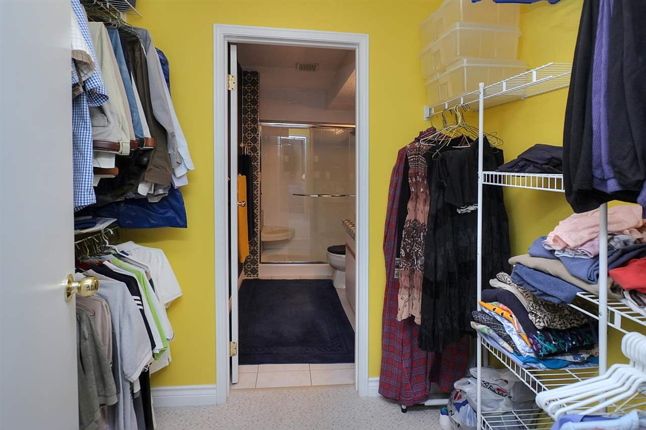The master suite boasts a large walk-through closet with organizer.