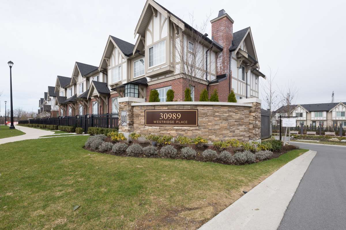 Main Photo: 54 30989 WESTRIDGE Place in Abbotsford: Abbotsford West Townhouse for sale : MLS® # R2147873