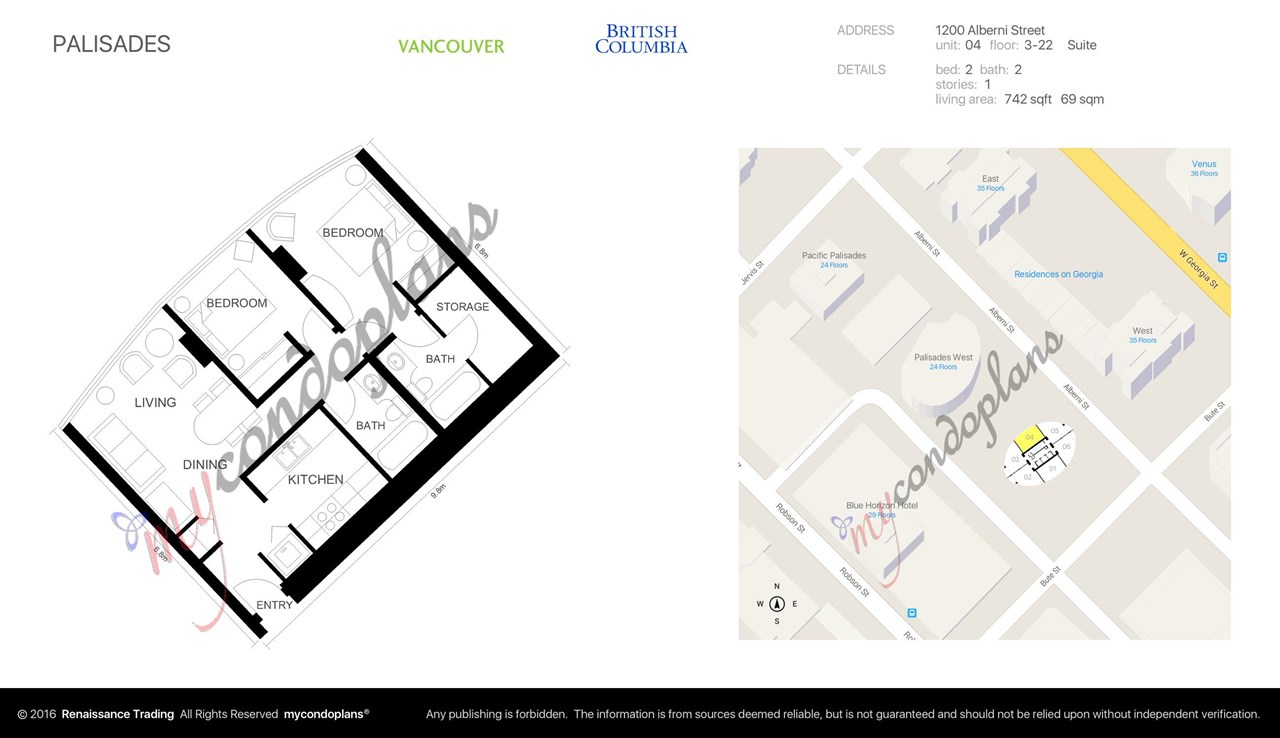 "Photo 12: 1804 1200 ALBERNI Street in Vancouver: West End VW Condo for sale in ""The Palisades"" (Vancouver West)  : MLS(r) # R2093758"