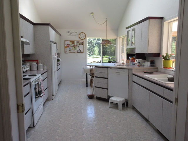 Larger home has an oversized cook's kitchen