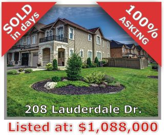 Main Photo: 208 Lauderdale Dr in Vaughan: Patterson Freehold for sale