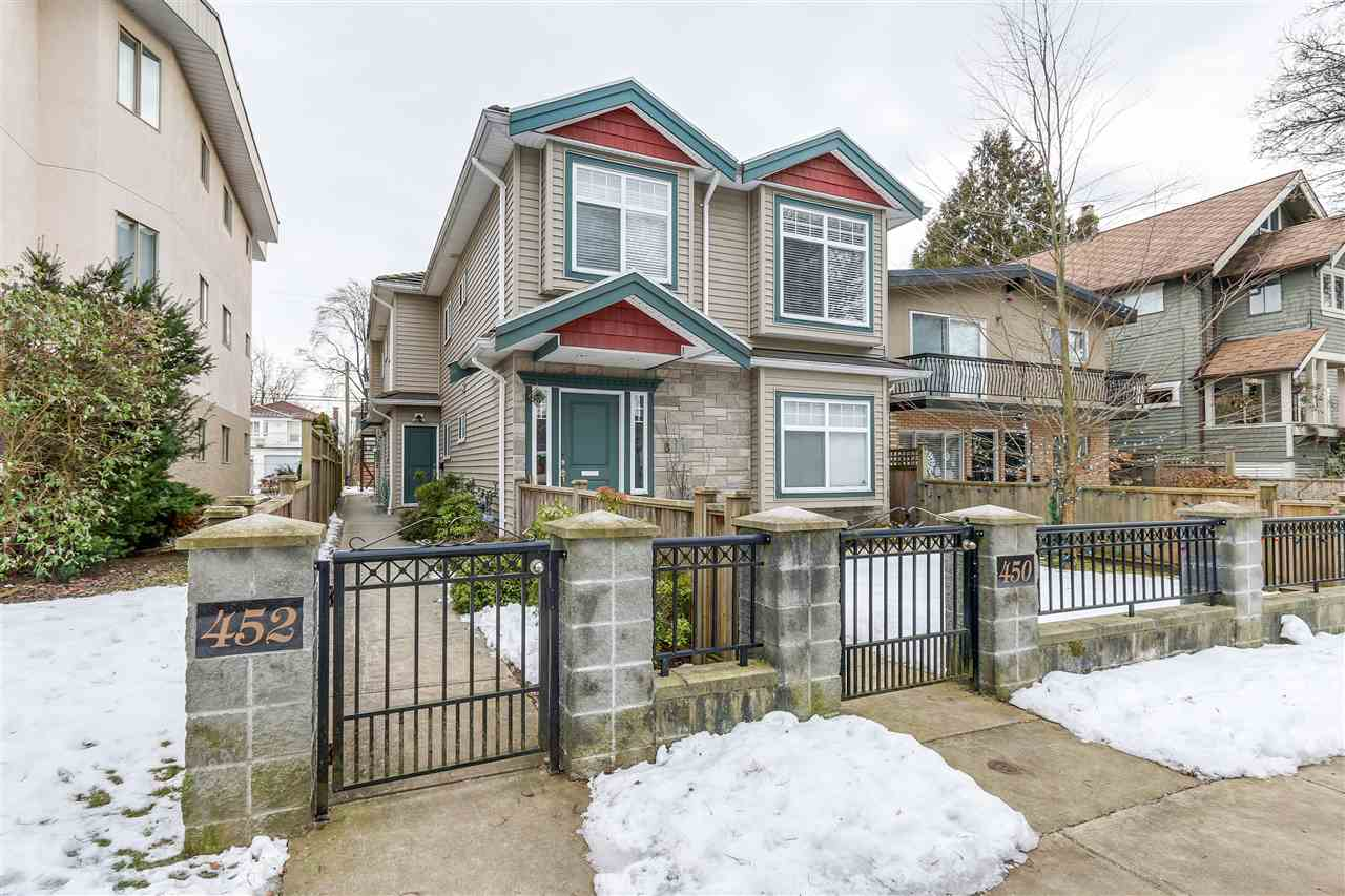 Main Photo: 452 E 44TH Avenue in Vancouver: Fraser VE House 1/2 Duplex for sale (Vancouver East)  : MLS® # R2131563