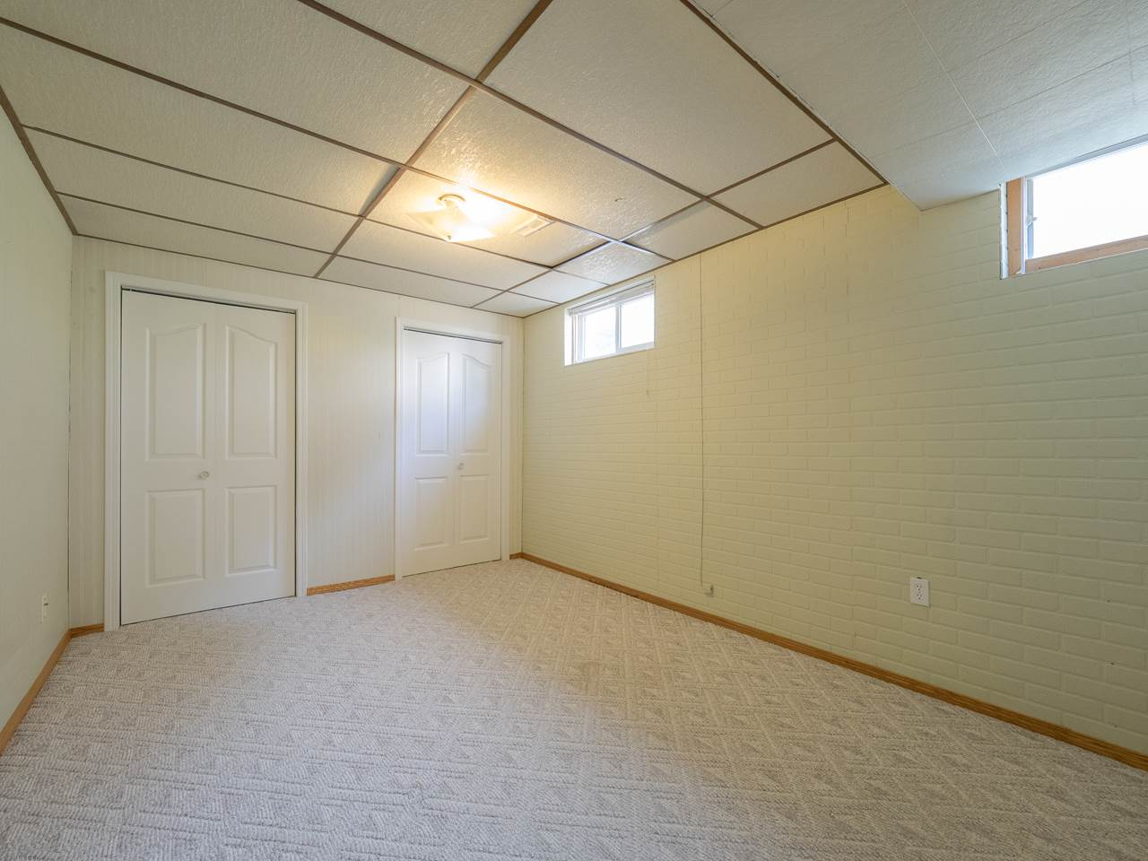 Bedroom in basement.
