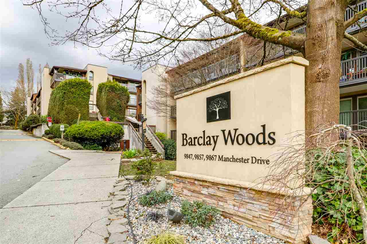 "Main Photo: 320 9847 MANCHESTER Drive in Burnaby: Cariboo Condo for sale in ""BARCLAY WOODS"" (Burnaby North)  : MLS® # R2256649"