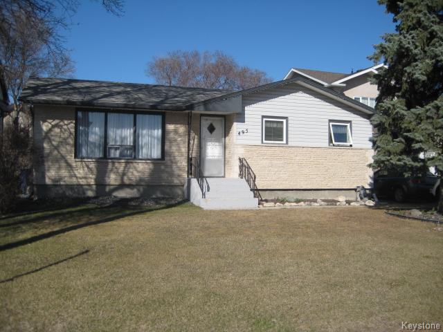 Main Photo: 495 Bonner Avenue in Winnipeg: North Kildonan Residential for sale (North East Winnipeg)  : MLS® # 1609502