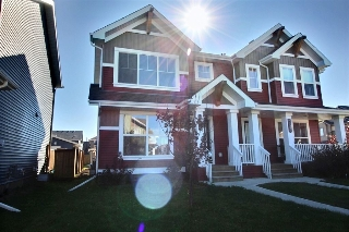 Main Photo: 4805 CRABAPPLE Run SW in Edmonton: Zone 53 House Half Duplex for sale : MLS® # E4078667