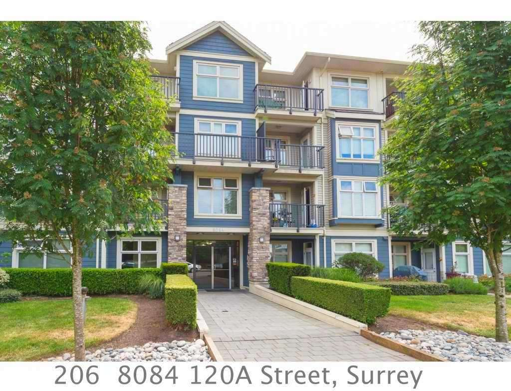 "Main Photo: 206 8084 120A Street in Surrey: Queen Mary Park Surrey Condo for sale in ""THE ECLIPSE"" : MLS® # R2069146"