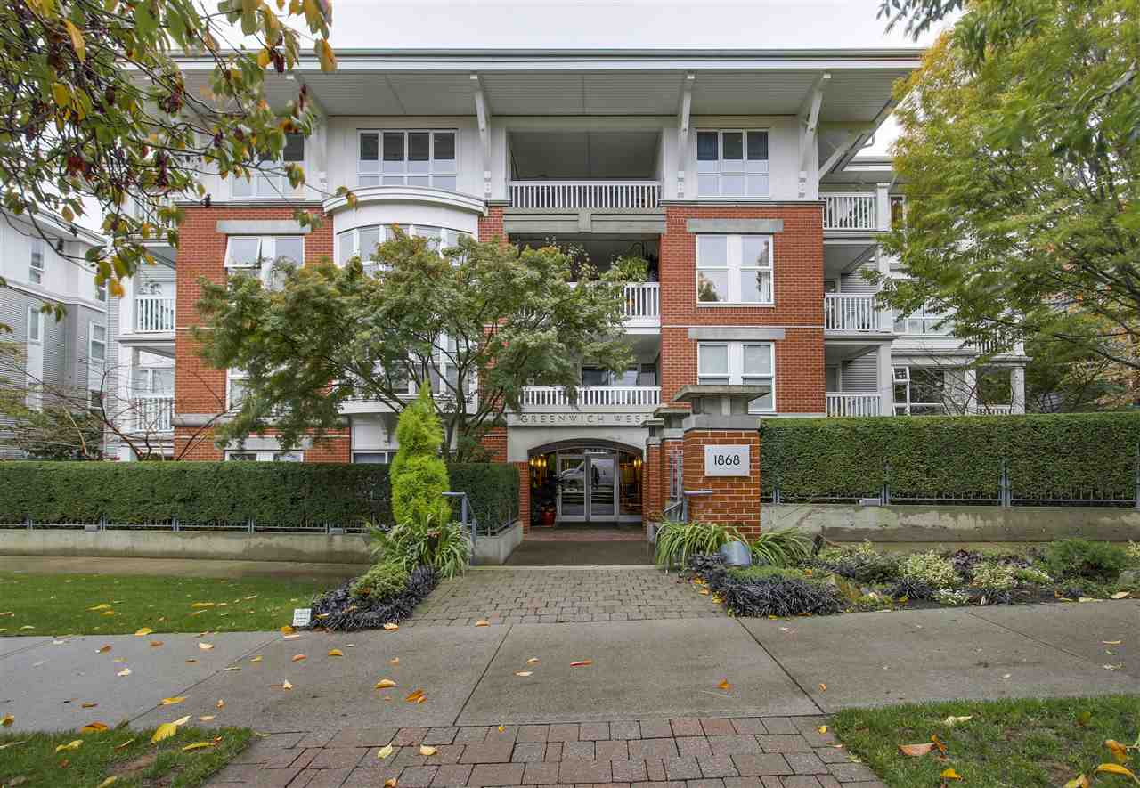 "Main Photo: 110 1868 W 5TH Avenue in Vancouver: Kitsilano Condo for sale in ""Greenwich"" (Vancouver West)  : MLS(r) # R2122472"